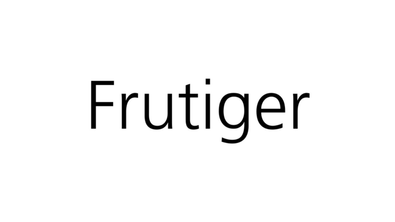 Frutiger font example