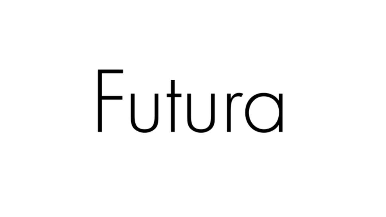 Futura font example