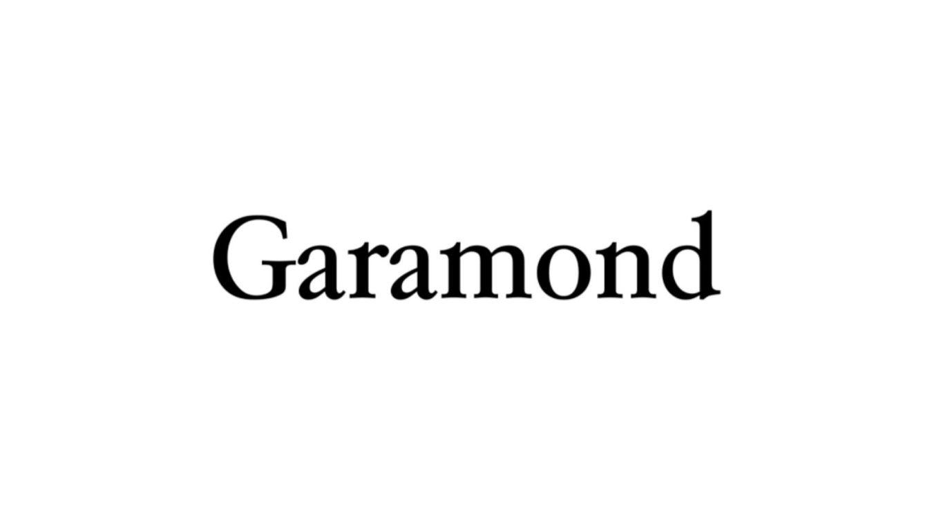 Garamond font example