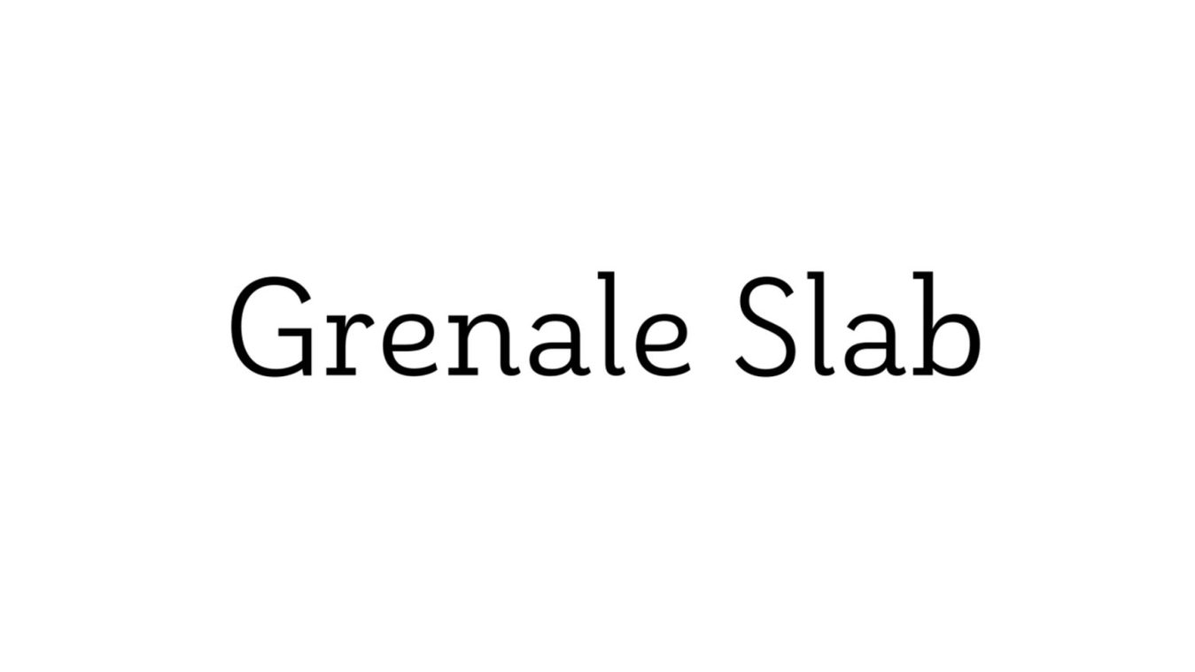 Grenale Slab font example
