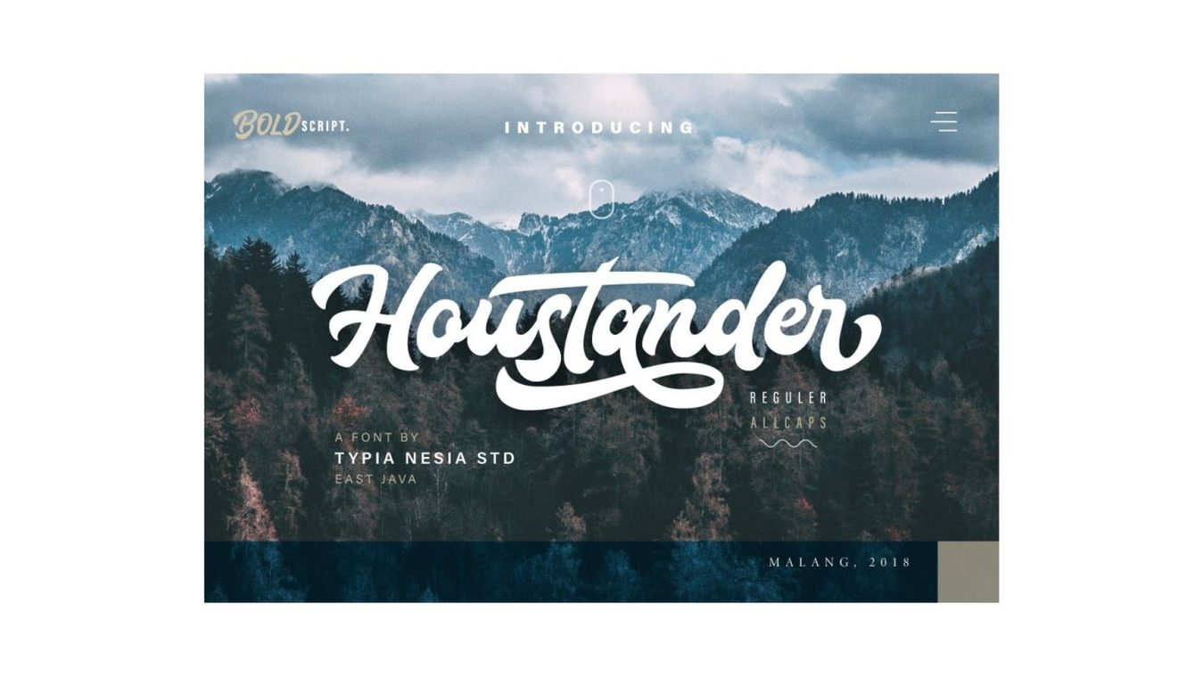 Houstander font example