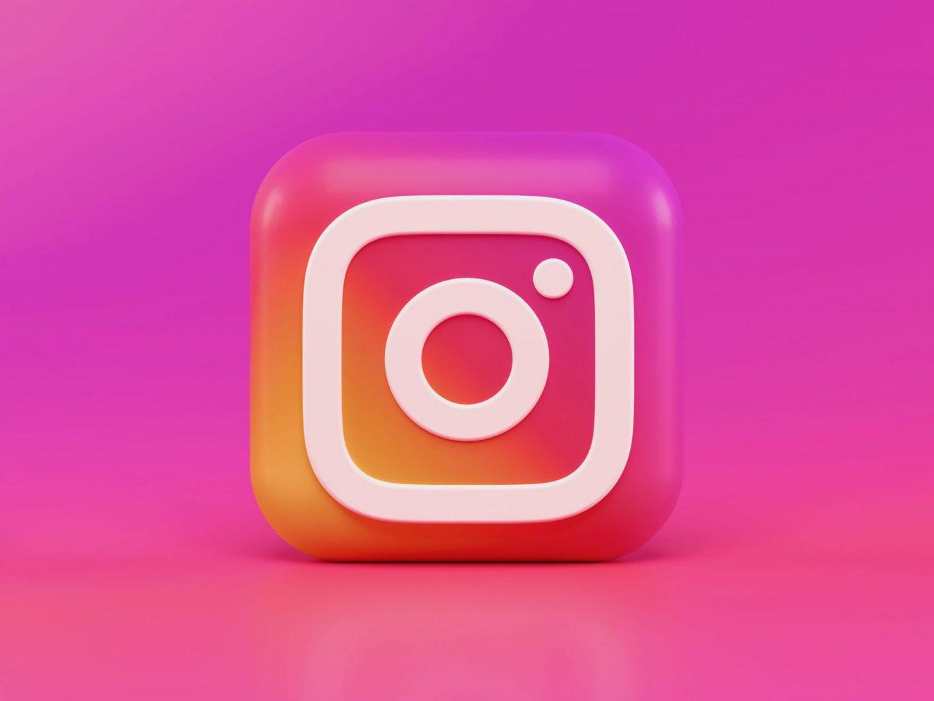 Icona Instagram in 3D
