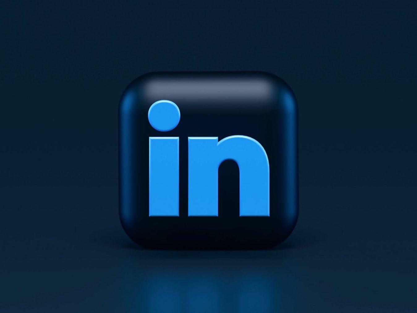 Icona LinkedIn in 3D