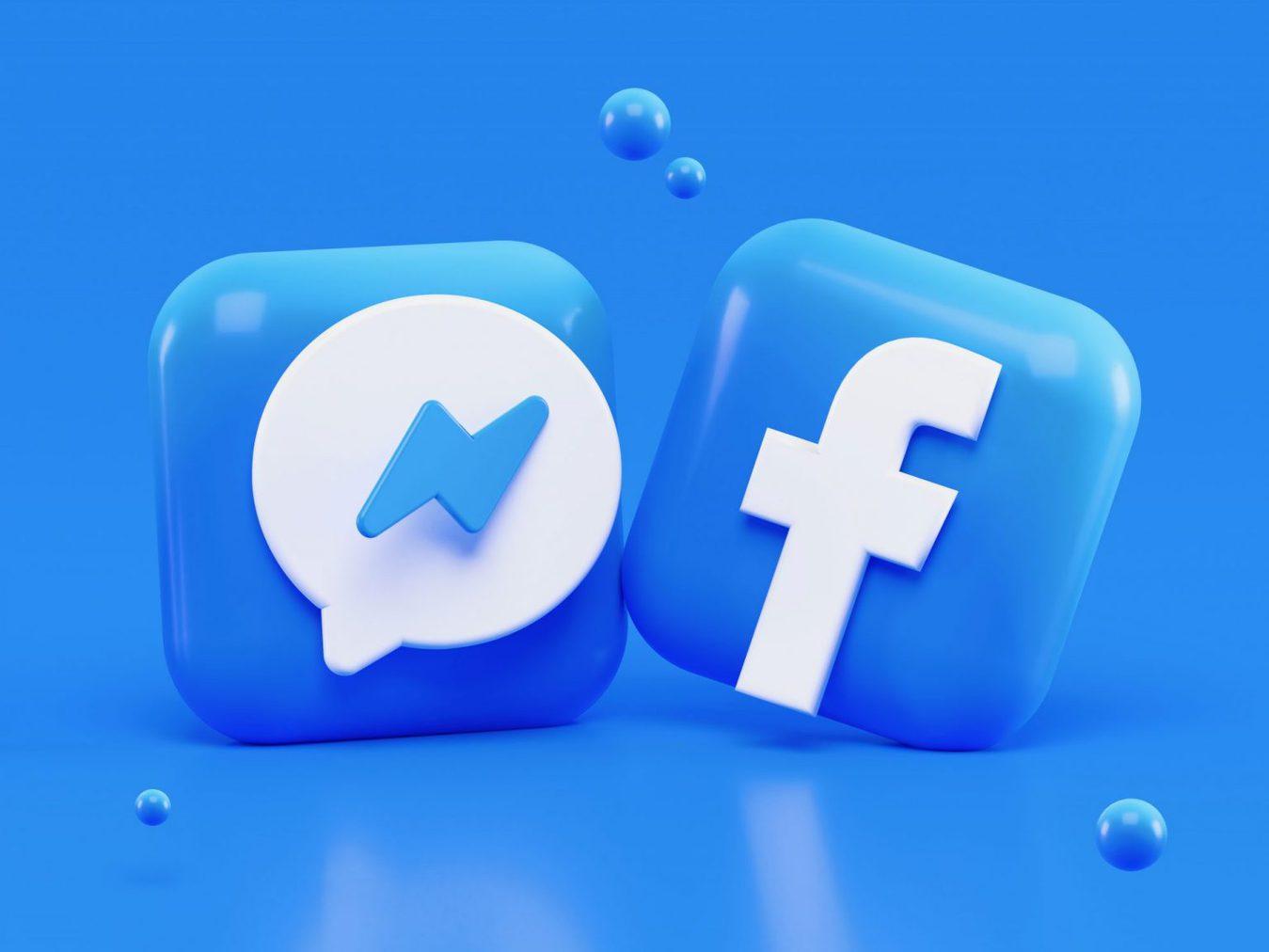 Icone Facebook in 3D