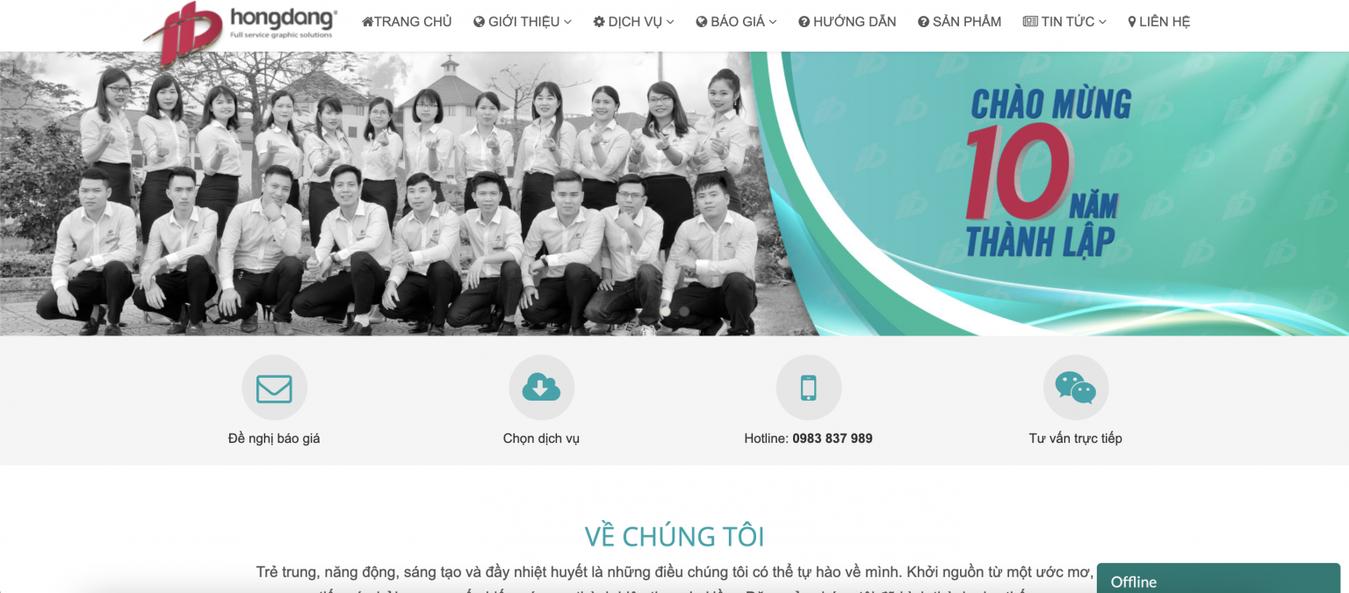 công ty in ấn Hồng Đăng print on demand