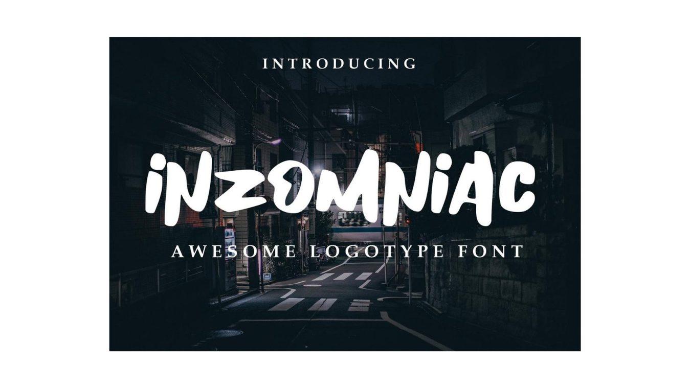 Inzomniac font example