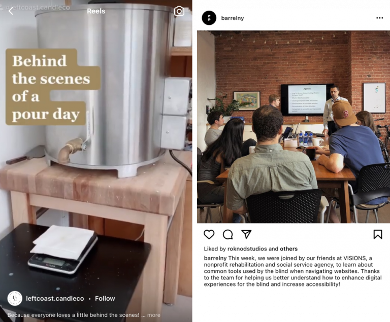 Ide konten Instagram behind the scene