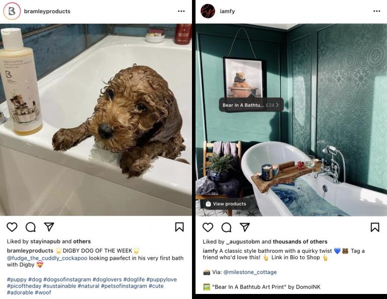 Konten buatan pengguna di Instagram