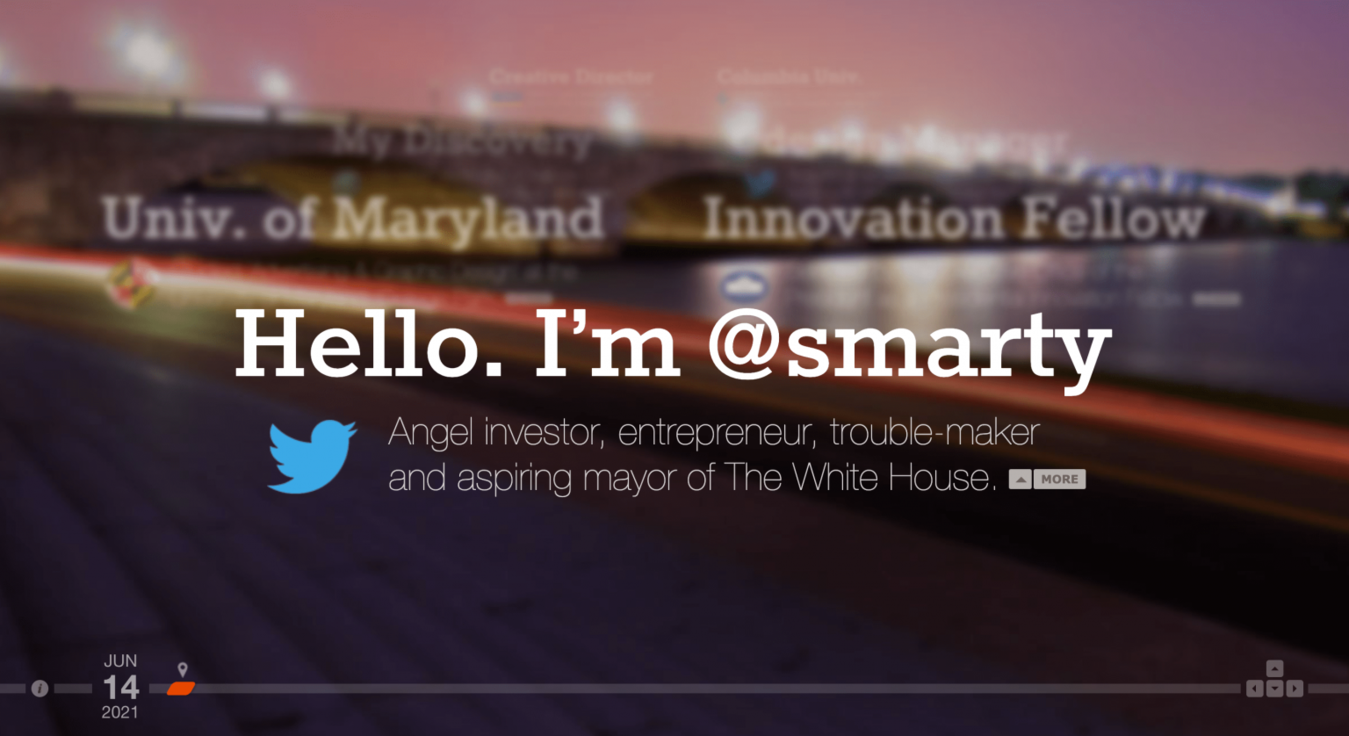 Marty landing page
