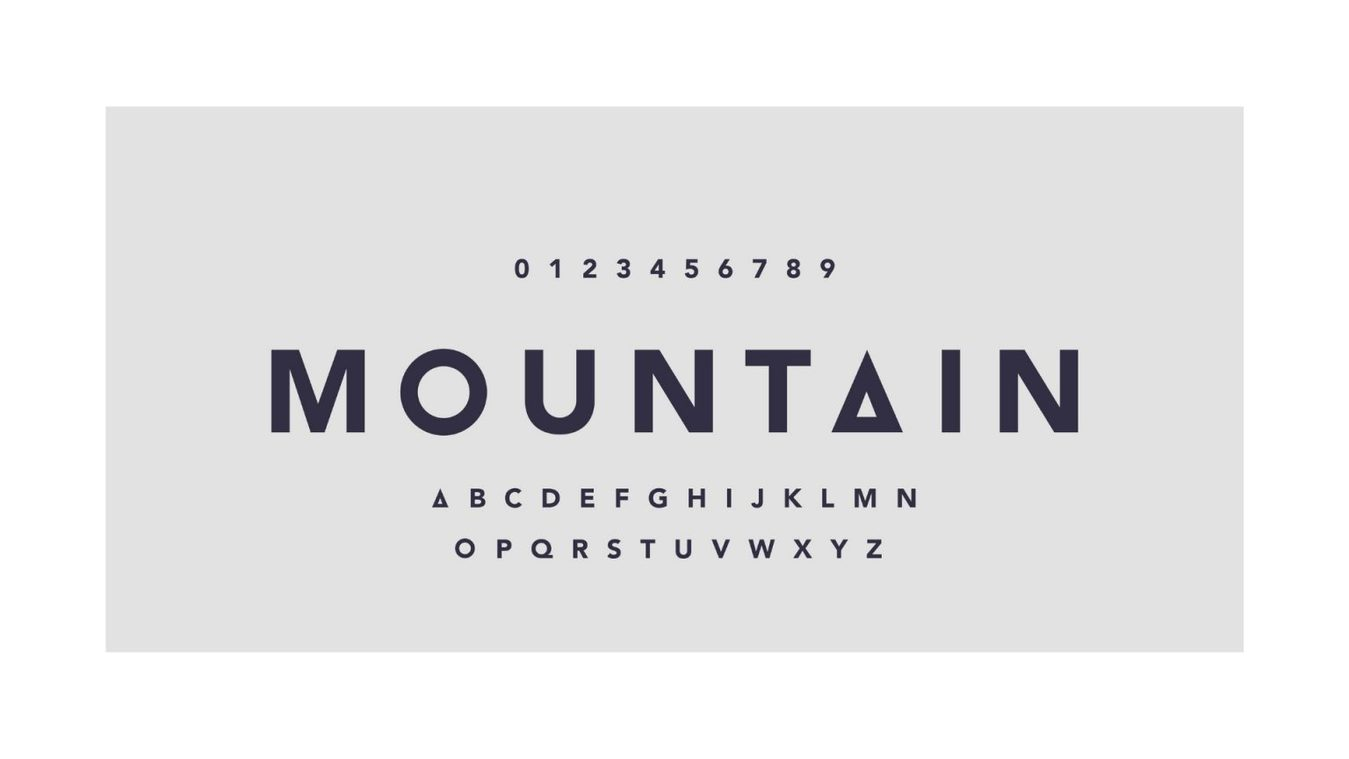 Mountain font example