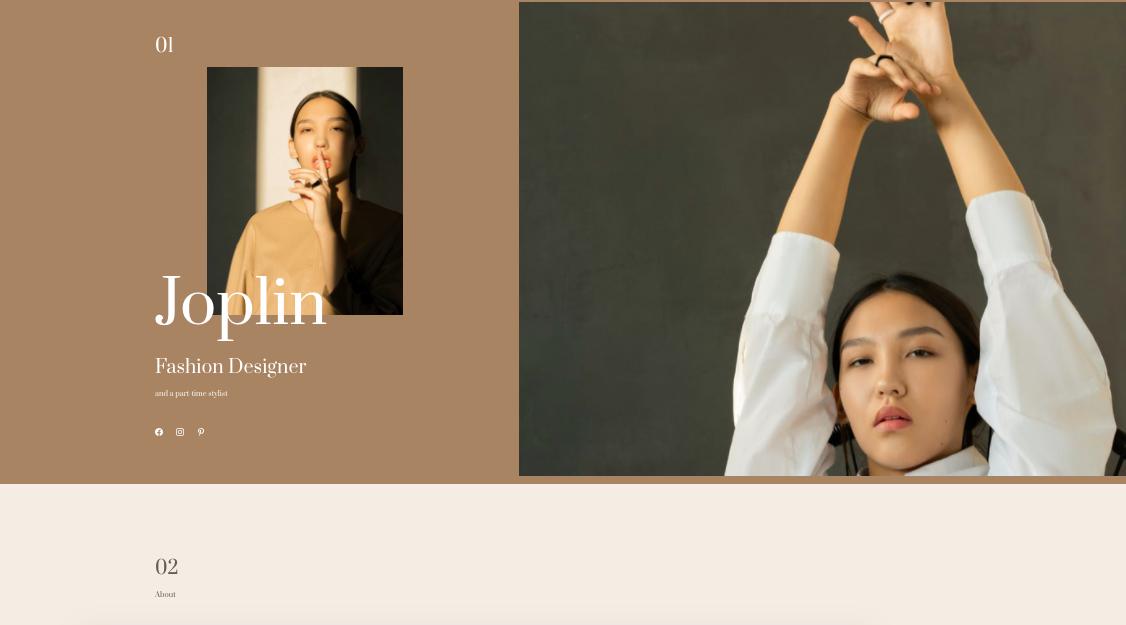 Esempio sito portfolio online