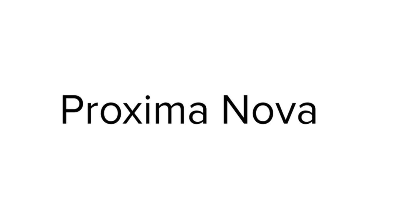 Proxima Nova font example
