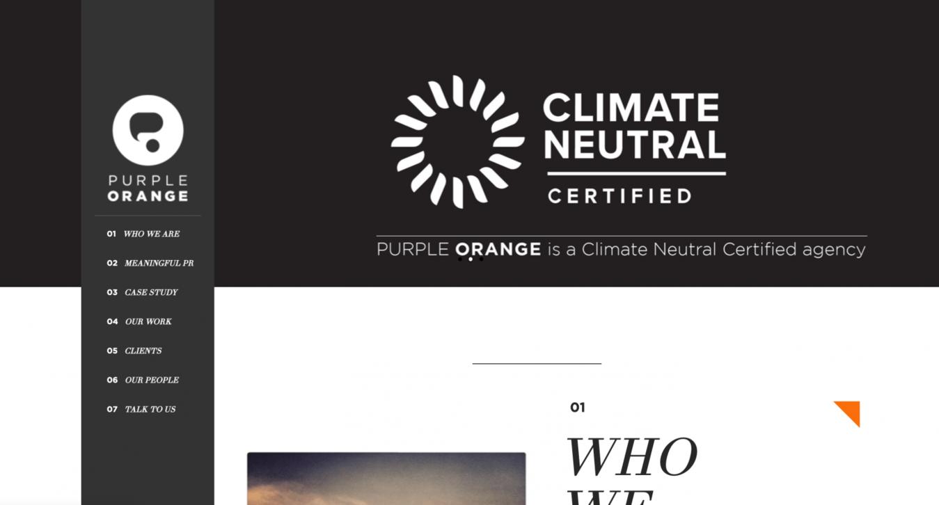 Purple Orange landing page