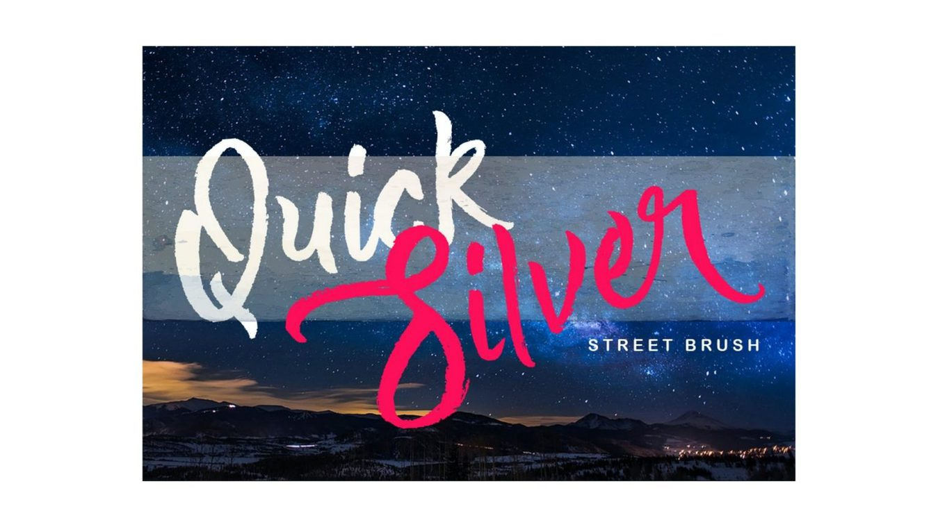 Quick Silver font example