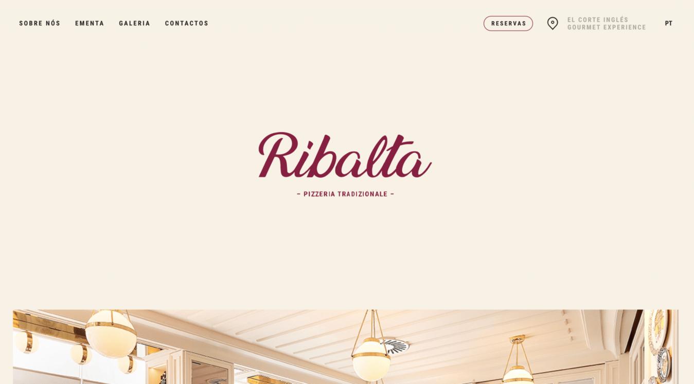 Ribalta landing page