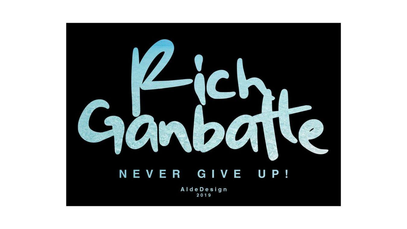 Rich Ganbatte font example