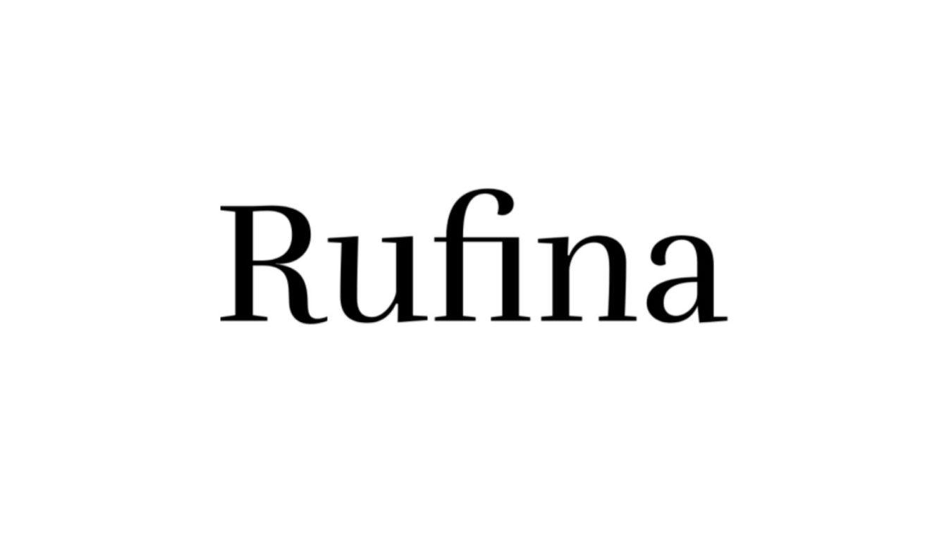 Rufina font example
