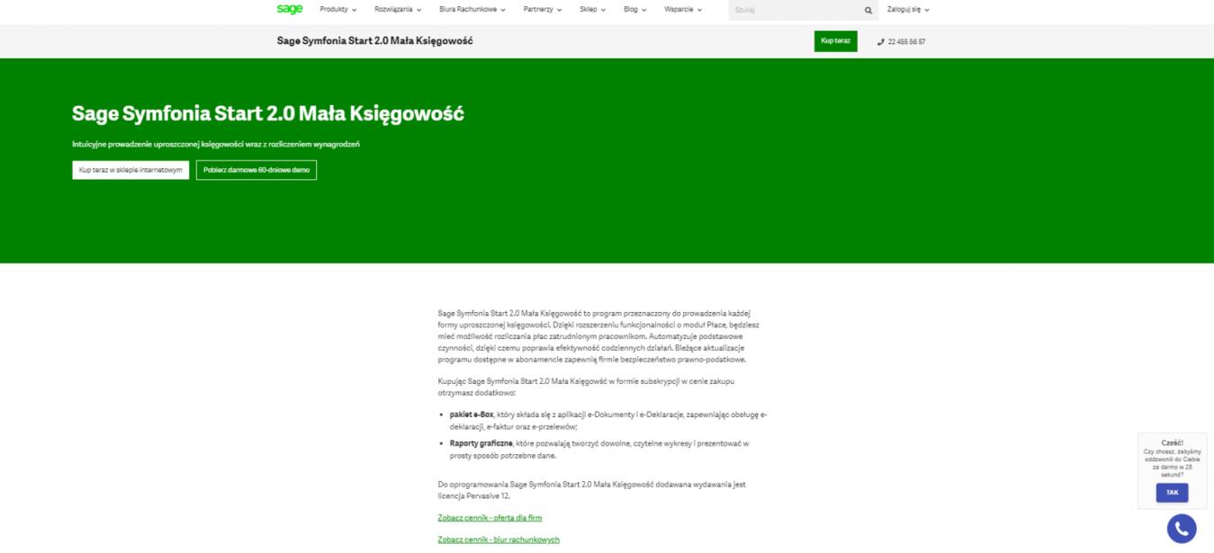 strona Sage Polska