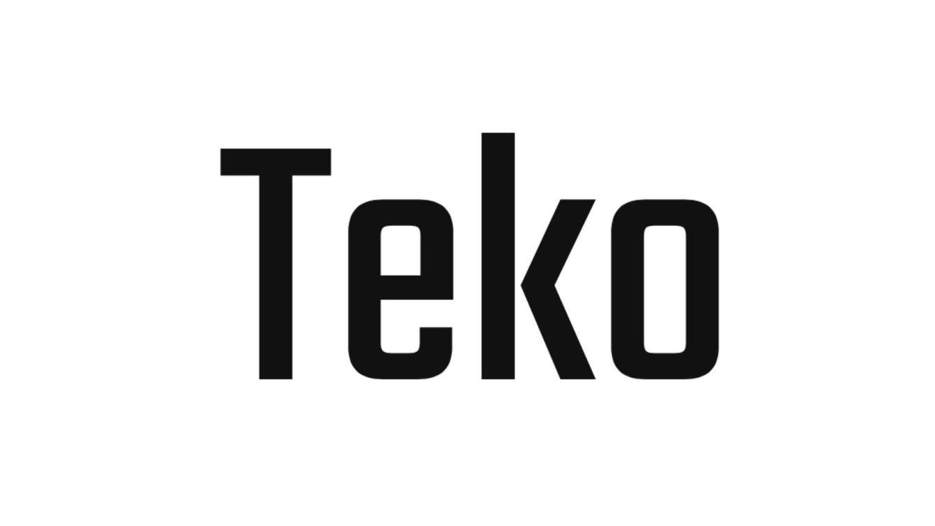 Teko font example