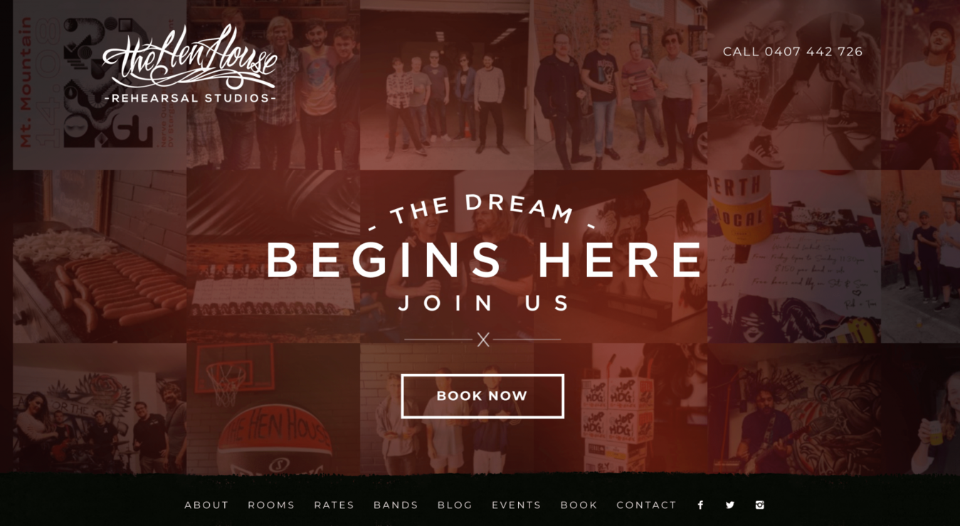 The Hen House landing page