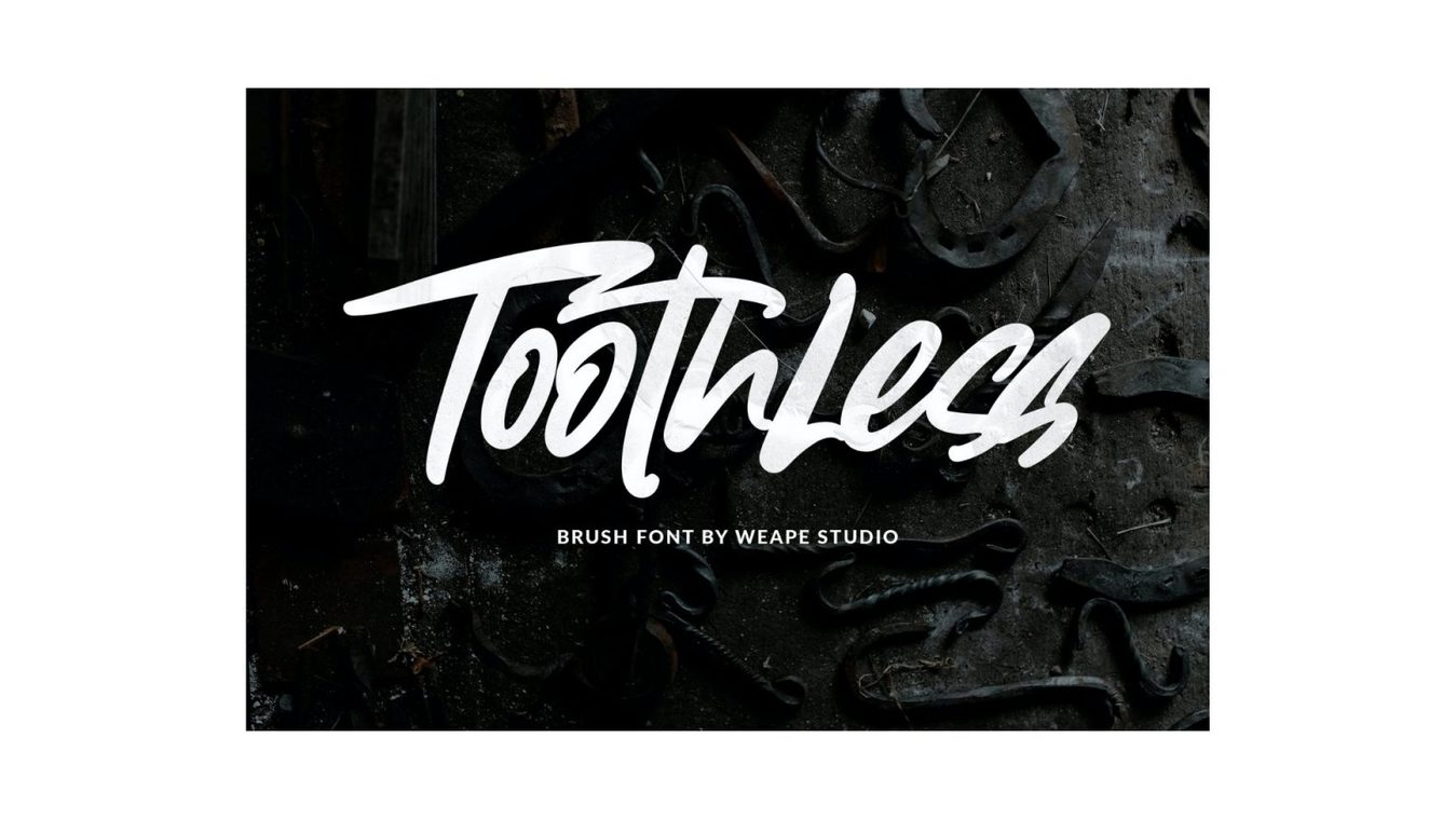 Toothless font example
