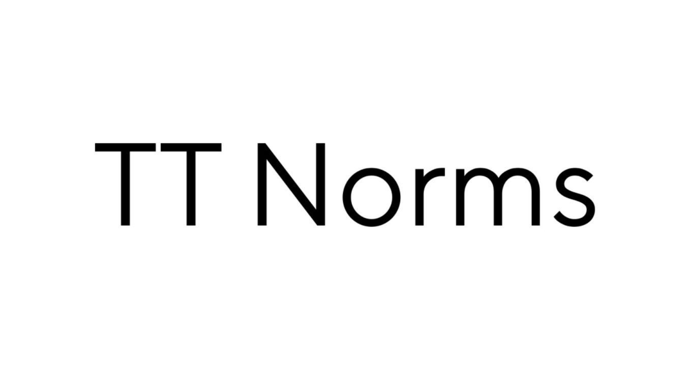 TT Norms font example