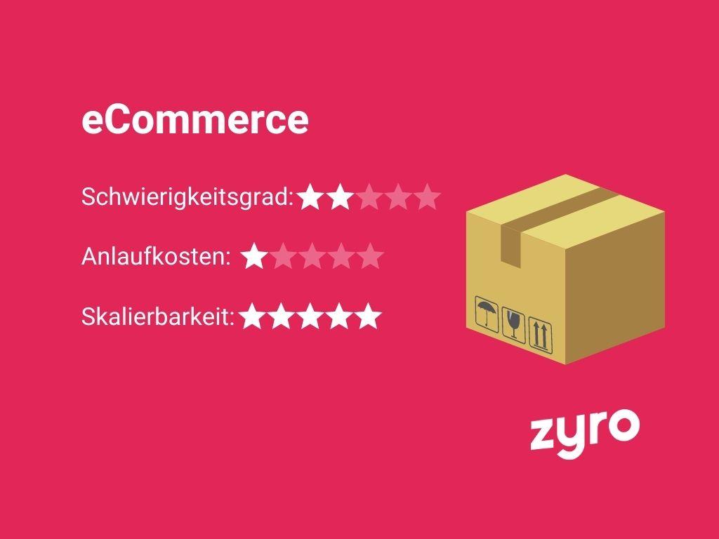 eCommerce Vorlage