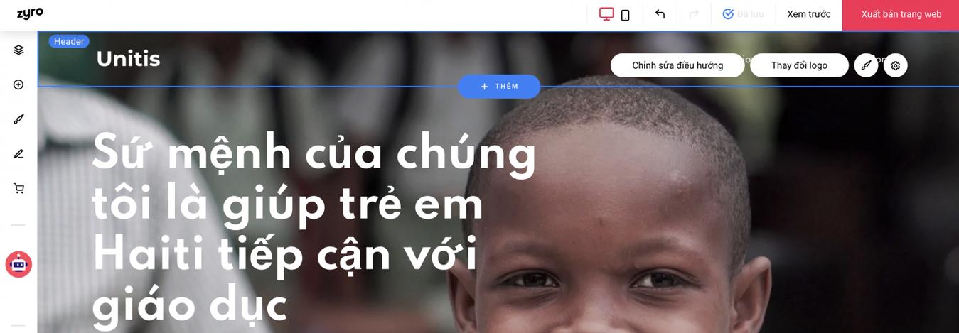 cách tạo trang web với Zyro
