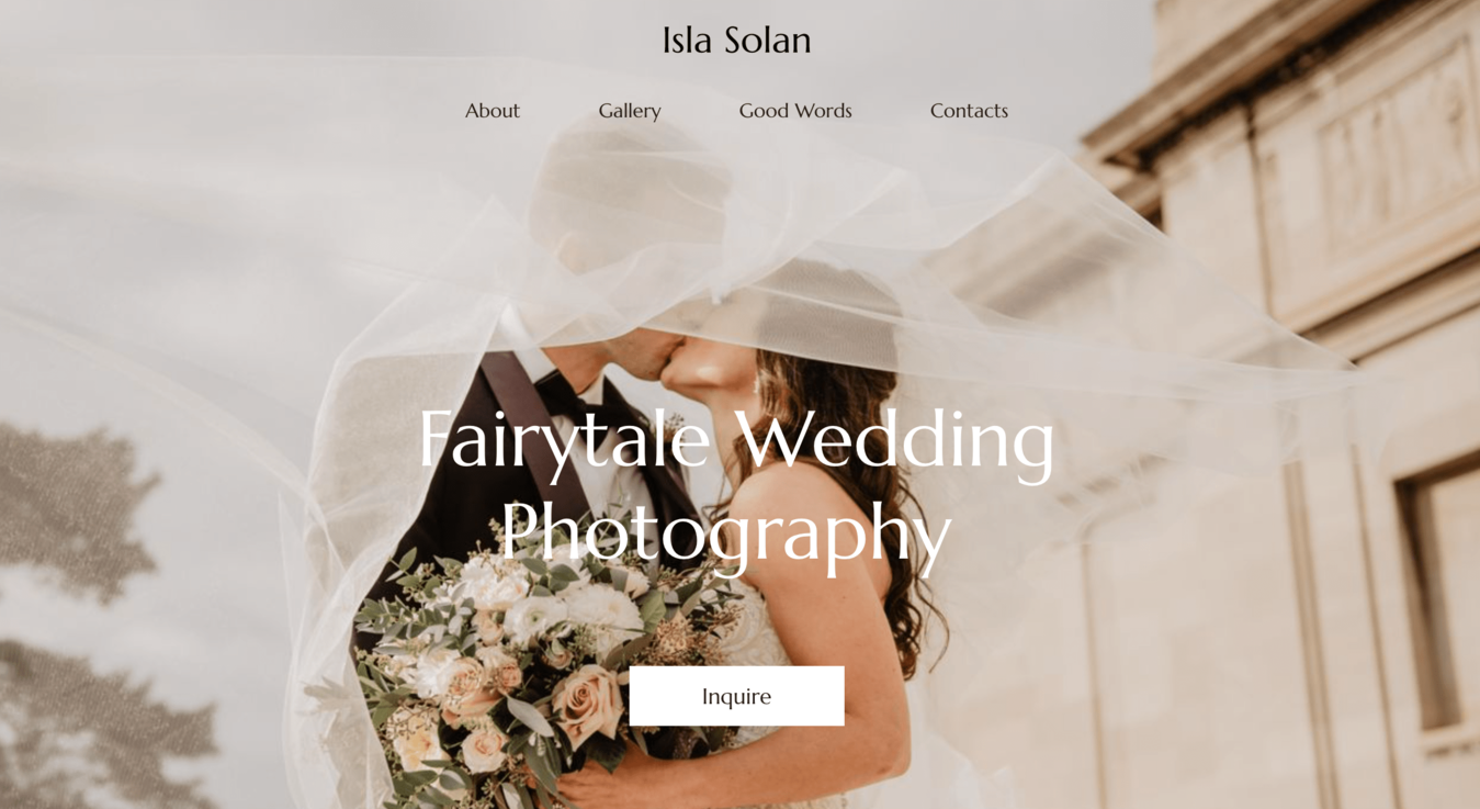 Site de fotografia de Isla Solan