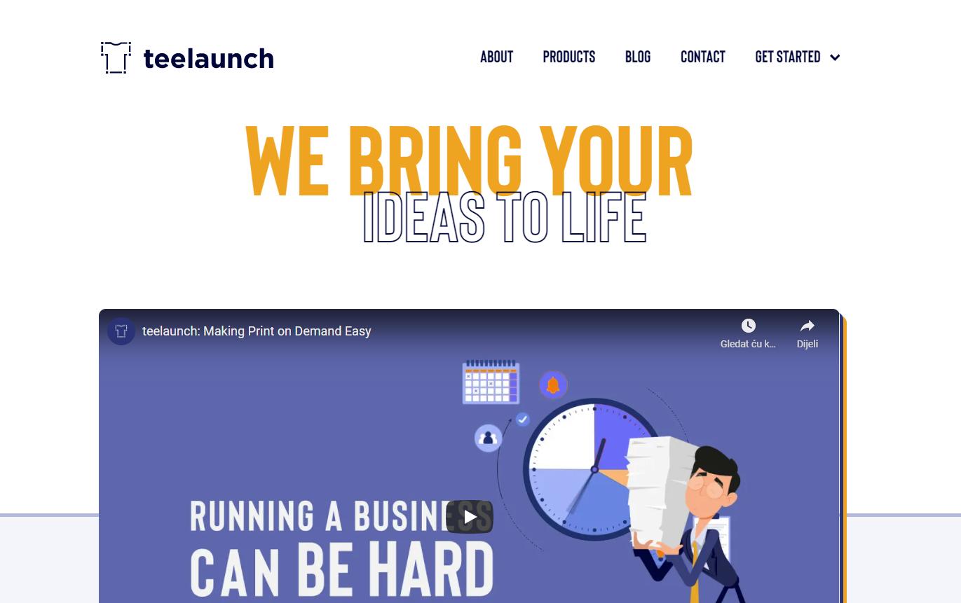 Teelaunch Webseite
