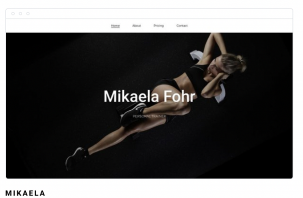 Template de site Mikaela