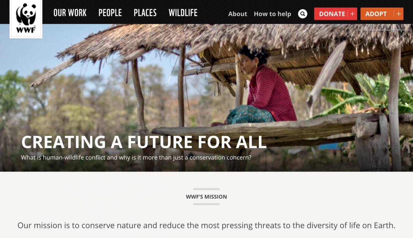 WWF home page