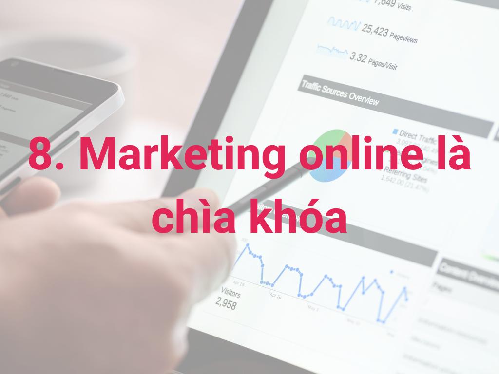 marketing online là chìa khóa