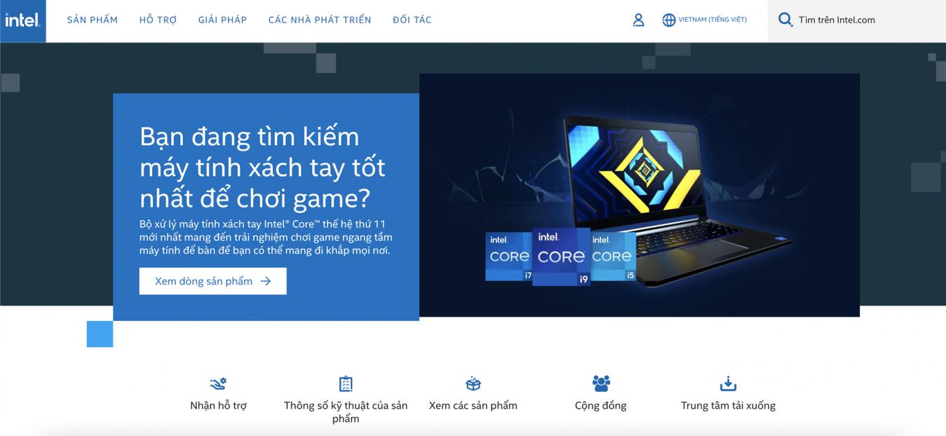 trang chủ Intel