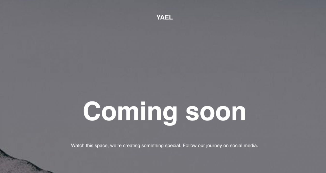 Zyro Yael landing page