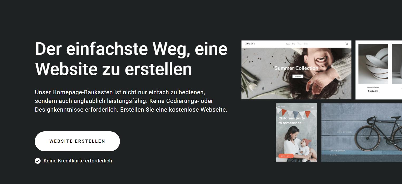 Zyro's homepage