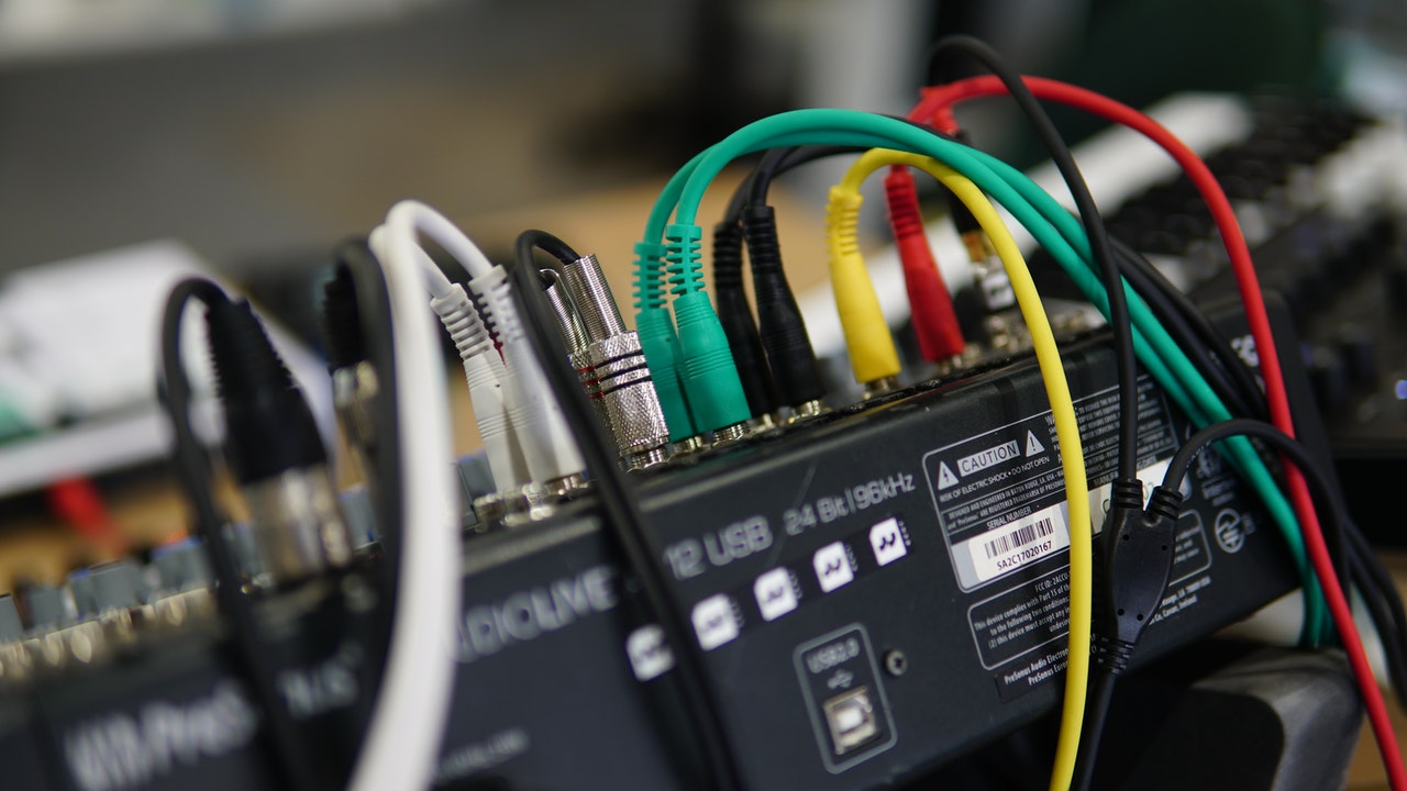 Cables coming out of a black box