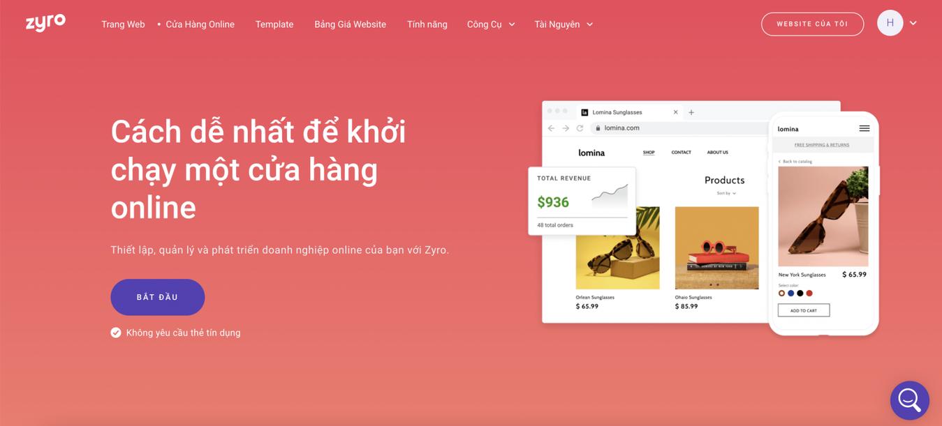 Cách dễ nhất để tạo cửa hàng online Zyro