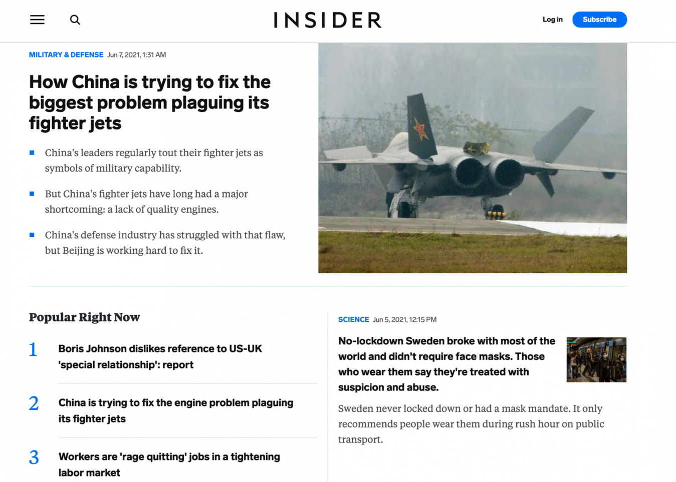 Landing page di Business Insider