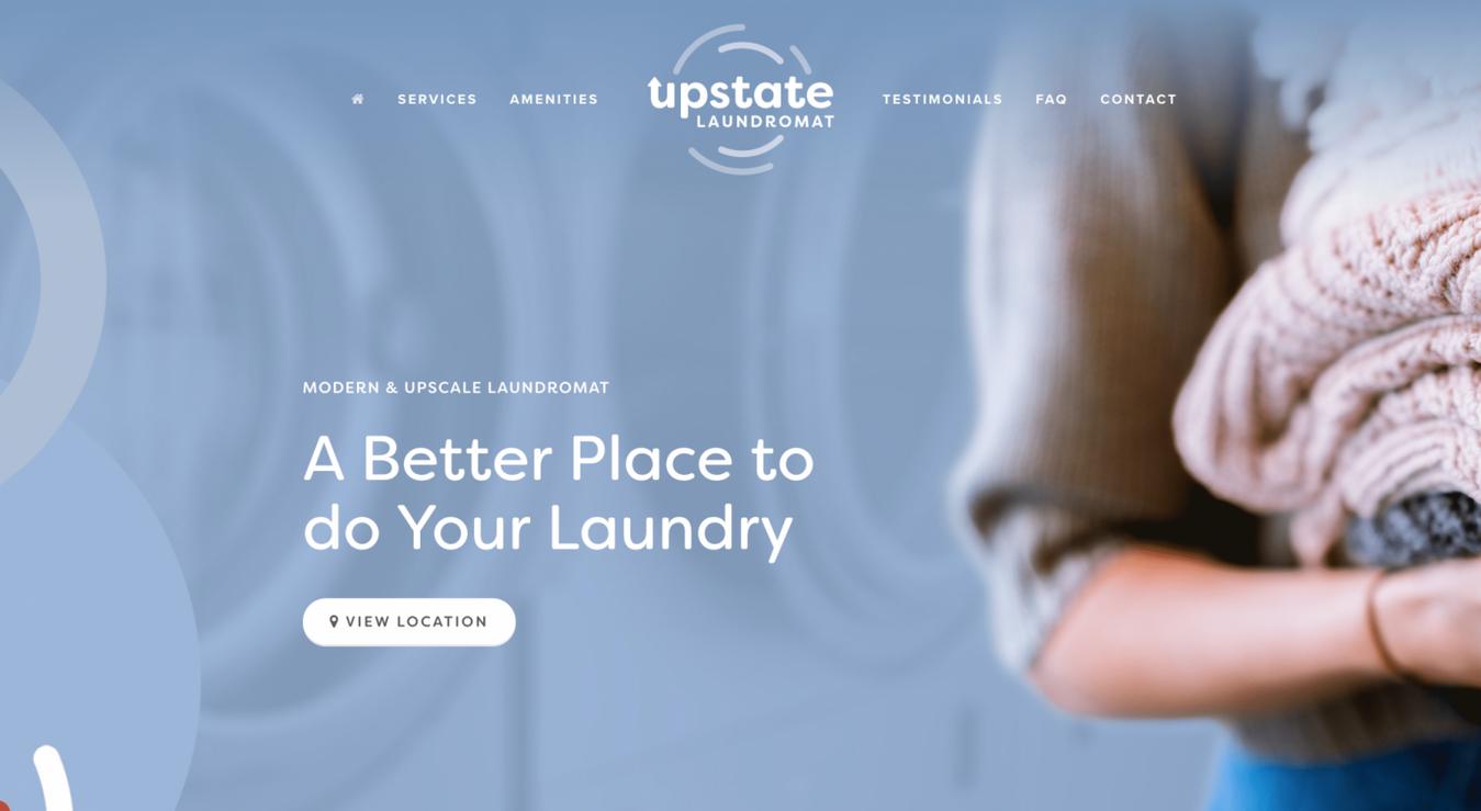 Landing page Upstate Laundromat