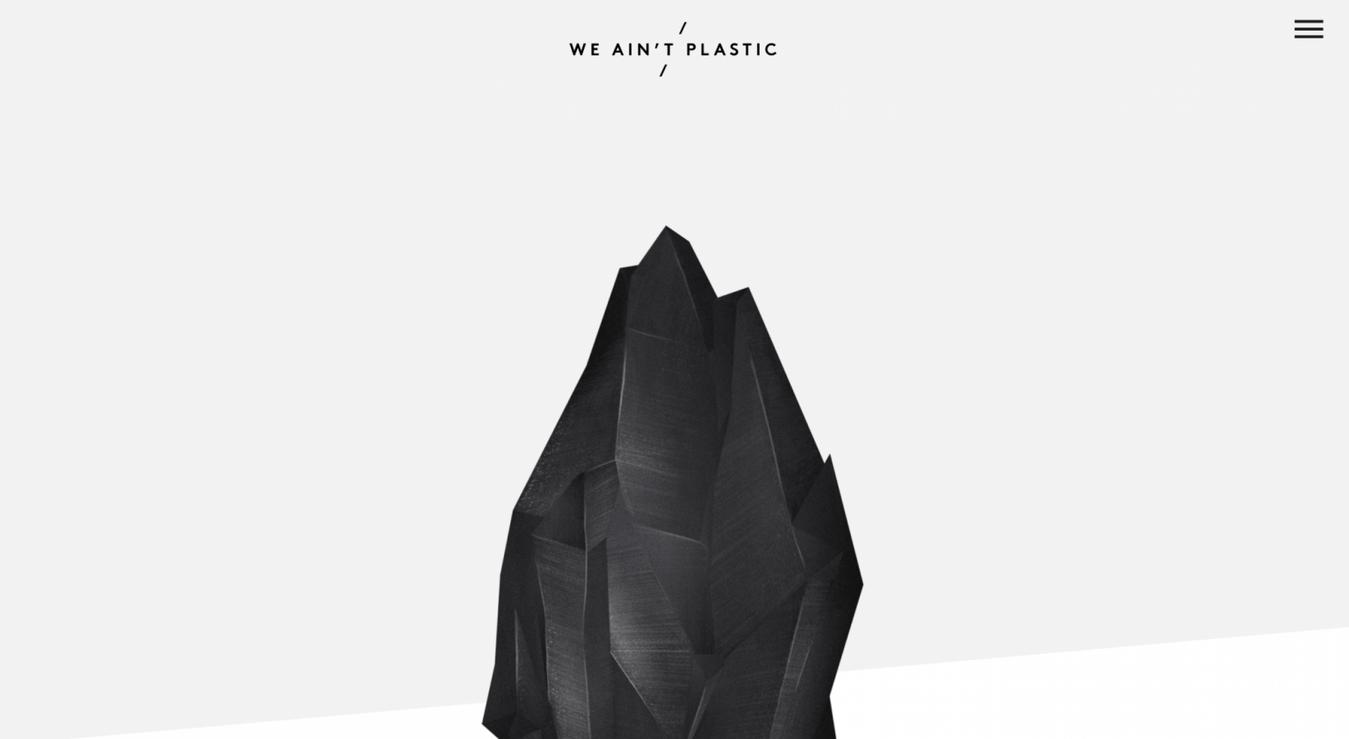 Landing page We Ain't Plastic